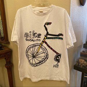 Vintage GRAVITY GRAPHICS Bike Sausalito T-Shirt XL
